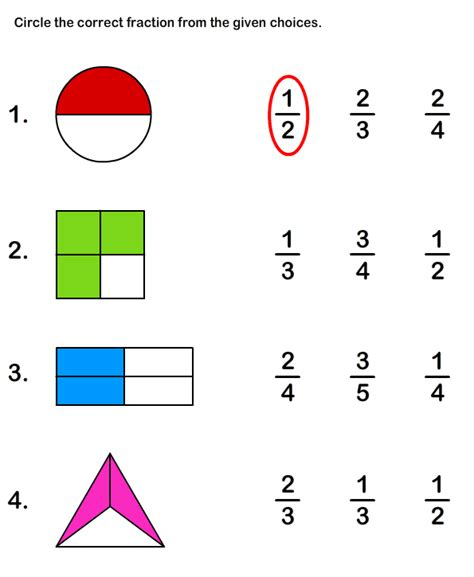 worksheets for fractions grade 1 fraction worksheets and printables printable math