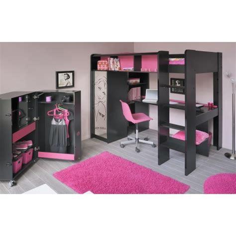 lit mezzanine fille avec bureau la chambre idéale pour vos enfants capitaine matelas