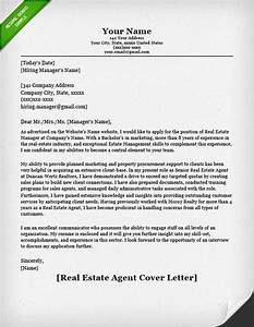real estate agent cover letter resume genius With real estate cma cover letter