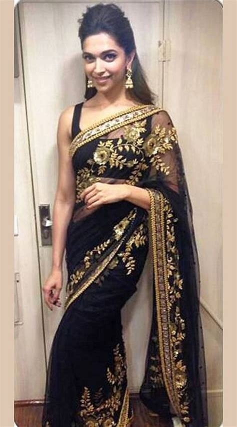 black saree blouse buy black and gold embroidered saree with blouse
