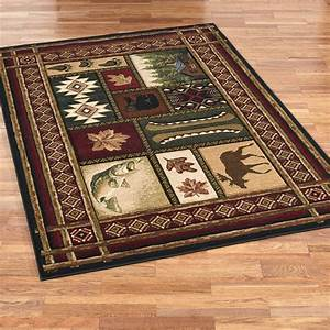 Cabin, Chalet, Rustic, Area, Rugs