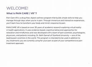 Pain Care Vr Getting Started Guide  U2013 Paincarevr