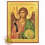 Archangel Icon Byzantine Nioras Wooden Michael 00usd