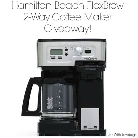 More buying choices$6.99(2 new offers) hamilton beach water filter pod 6 pack. Hamilton Beach FlexBrew 2-Way Coffee Maker - Life With Lovebugs