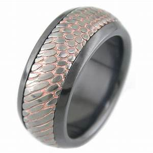 men39s black zirconium sleeve carved superconductor ring With superconductor wedding ring