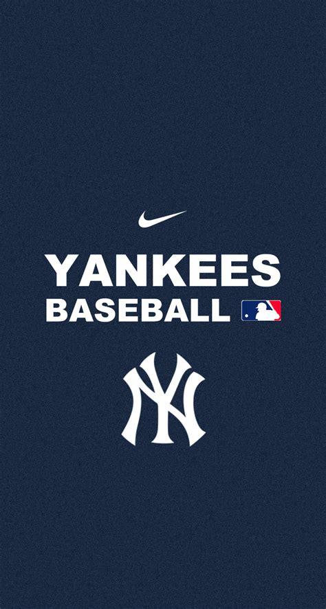 New York Yankees Logo Wallpapers Yankees Iphone Wallpaper Wallpapersafari