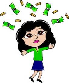 """Rich Woman Clipart Image - Caucasian lady who """"Hit the ..."""