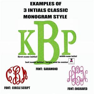 spotlight onmonogram style 3 initials classic miss With how to do a monogram