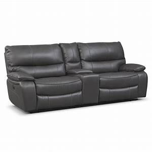 orlando power reclining sofa with console gray With sectional sofas orlando cheap