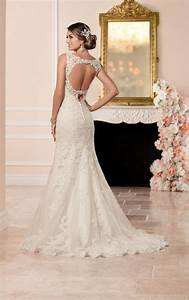 lace fit and flare wedding dress stella york With stella york lace wedding dress