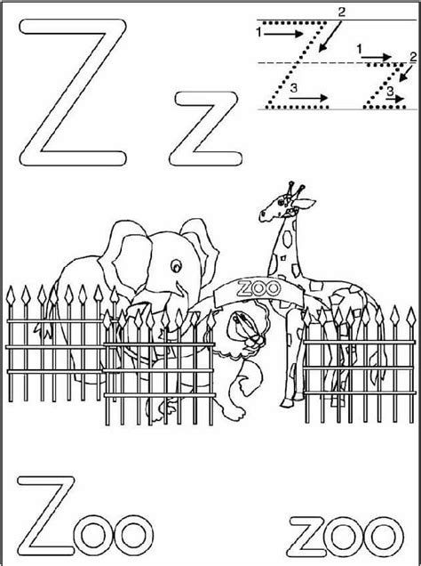 letter z handwriting worksheets for kids 171 preschool and