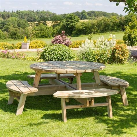 seater outdoor dining set natural  picnic table