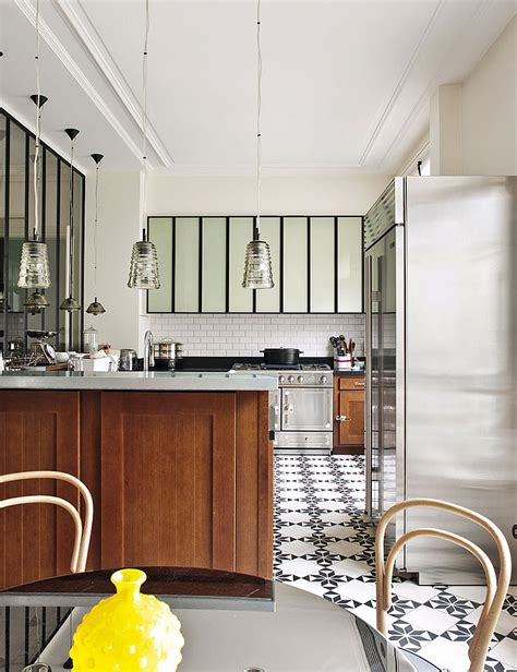 interiors cuisine decorating parisian style chic modern apartment by