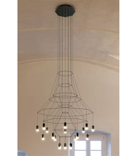 suspension wire for lights wireflow suspension 20 led vibia milia shop
