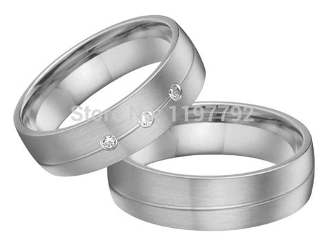 2014 New Silver Color Titanium Jewelry Wedding Bands Ring