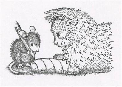 Mouse Coloring Stamps Cat Pages Stamp Rubber