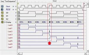 Timing Simulation Of The Asynchronous Counter With Decoded