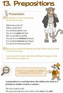Preposition Guide To Grammar And Writing