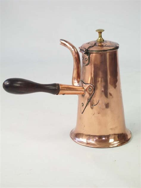 antique georgian copper coffee pot
