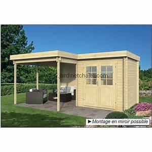 Chalet Bois Toit Plat : abri de jardin toit plat 20m2 chalet de jardin tyra madrier 28mm ~ Melissatoandfro.com Idées de Décoration