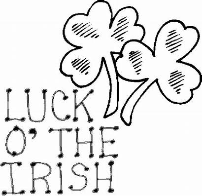 Irish Luck St Coloring Pages Patricks