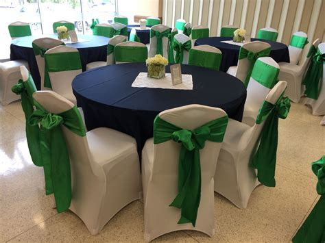 navy blue lamour tablecloths white spandex chair covers