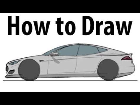 draw  tesla model  sketch  quick youtube