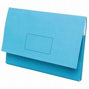 Marbig a3 document wallet slimpick blue ebay for Document wallet
