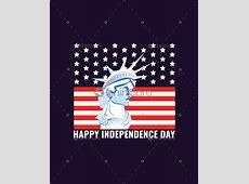 American flag & statue of liberty T shirt design USA