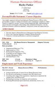 Human Resources Officer Cv Template 1
