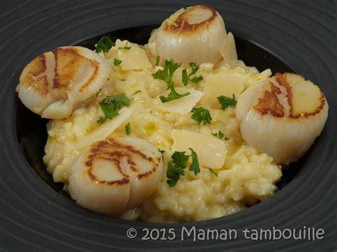 cuisine pate risotto aux jacques à l 39 huile de truffe maman