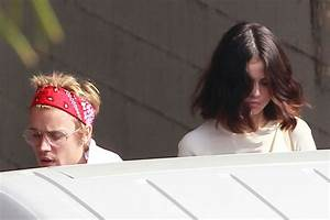 SELENA GOMEZ and Justin Bieber at a Church Services in Los ...