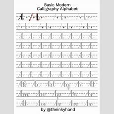 Basic Modern Calligraphy Practice Sheets By Theinkyhand