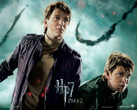 Deathly Hallows Part Ii Official Wallpapers Fred And George Weasley Wallpaper 24714478 Fanpop