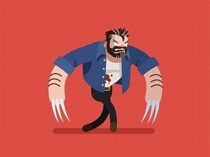Logan Wolverine Myers Michael Dribbble Animation Gifs