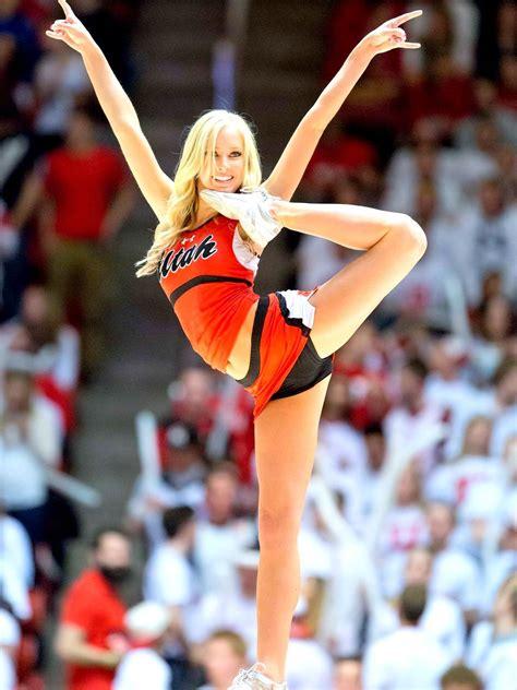 Cheer University Of Utah Cheerleader Stunt During