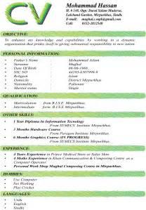 Best Cv Formats Pakteacher 6 Pak Teacher Jobs Updates