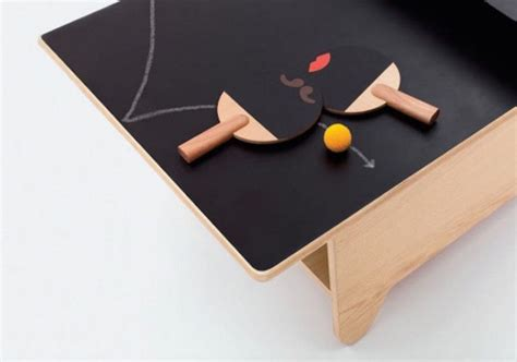 Best coffee table books, best travel photography books, movies, tv shows & games: Ping pong table doubles as a coffee table with a chalkboard surface   Kid friendly furniture ...