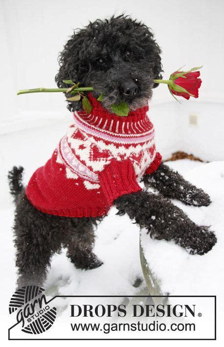 hundepullover xs stricken gestrickter drops hundepullover zum valentinstag aus karisma mit herzen gr 246 223 e xs l drops