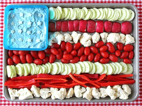 american flag vegetable tray platter   july party ideas