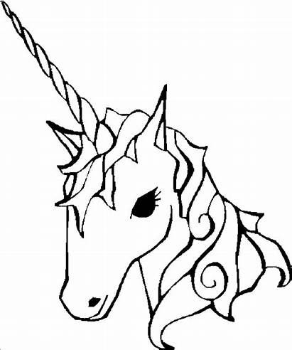 Unicorn Coloring Unicorns Colouring Pages Printable Easy