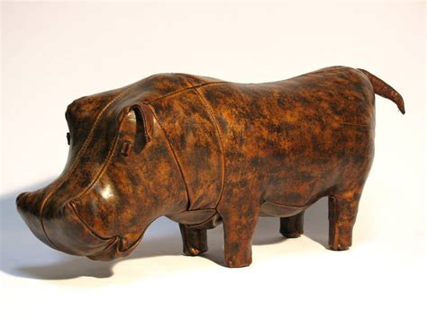 Leather Hippo Ottoman by Large Hippo Ottoman By Omersa For Abercrombie And Fitch At