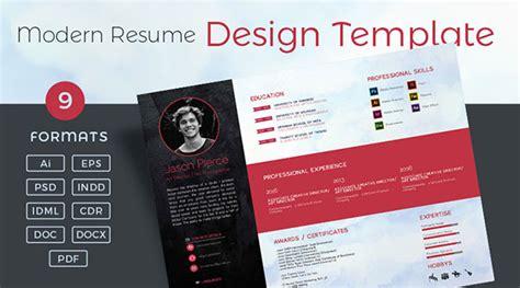 10 fresh free premium resume cv template design