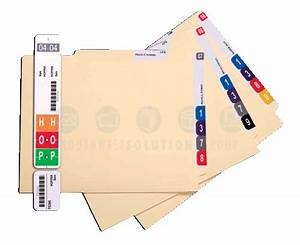 side tab folders and color coded filing supplies With file folder tab labels