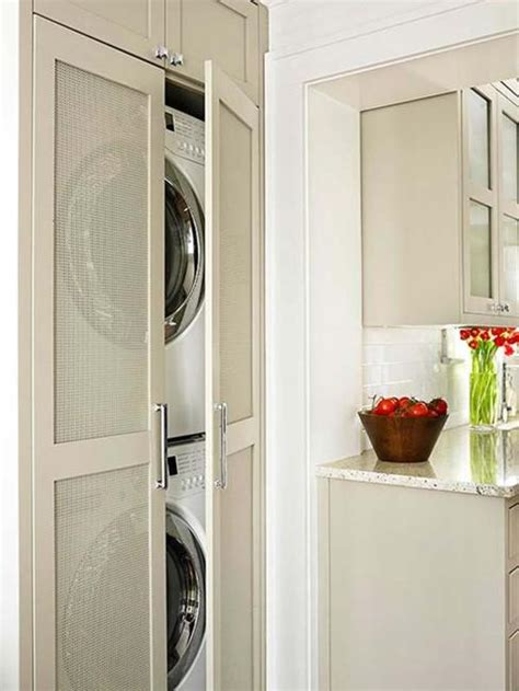 space saving ideas  functional small laundry room design