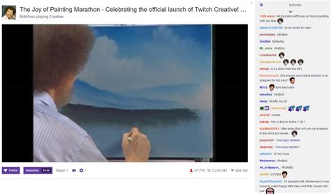 Bob Ross On Twitch  With Chat And Steve! Greatest Thing