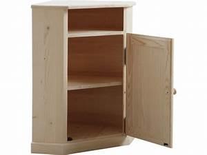 Petit Bureau Conforama : petit meuble d 39 angle en bois brut vente de aubry gaspard conforama ~ Teatrodelosmanantiales.com Idées de Décoration