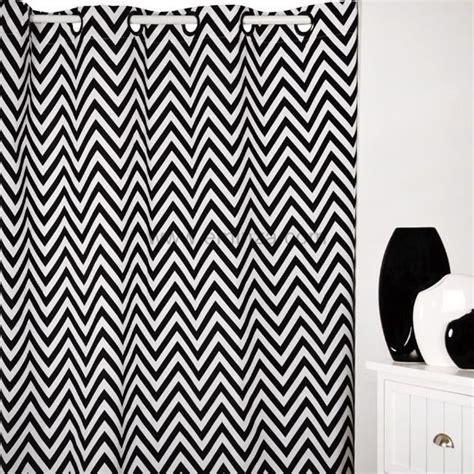rideau 140 x h250 cm dozer blanc et noir rideau