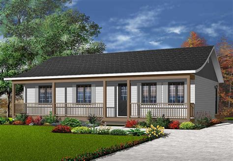 Home Plans With Front Porch by Ranch With Width Front Porch 2146dr Architectural
