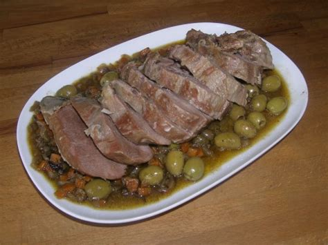 langue de veau aux olives vertes la recette du dredi